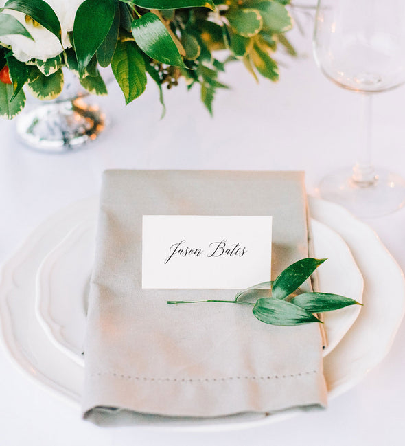 Classic Calligraphy Place Card