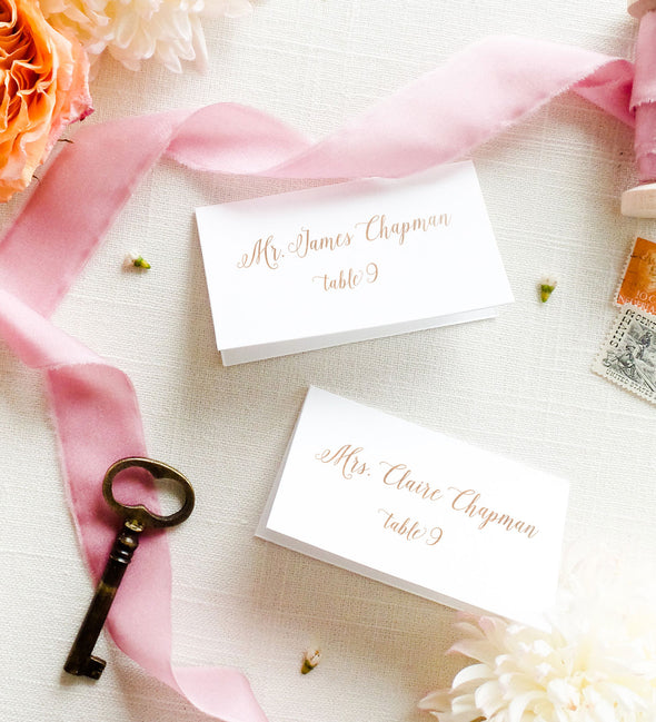 Dancing Script Place Card