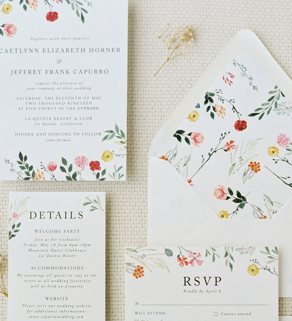 Floating Garden Wedding Invitation