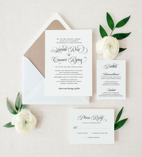 Simply Glamorous Wedding Invitation
