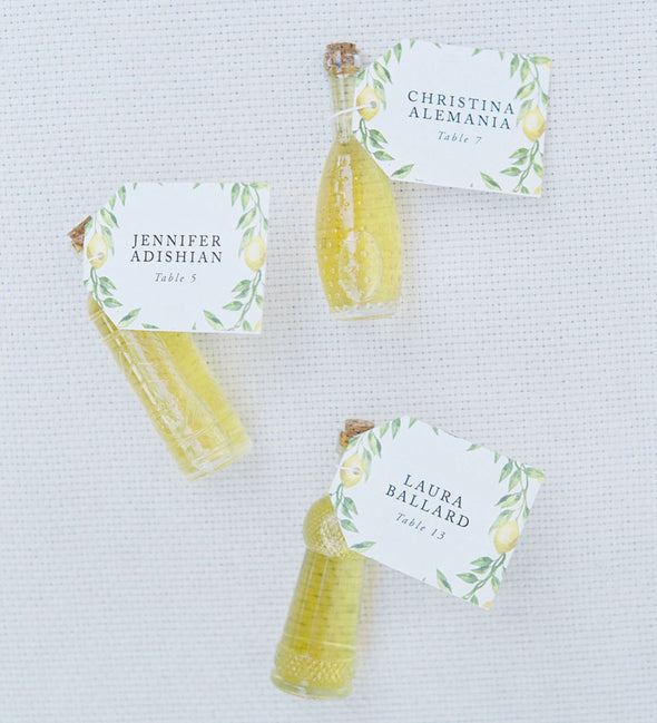 Lemon Branch Place Card