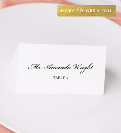 Opposites Attract Place Card
