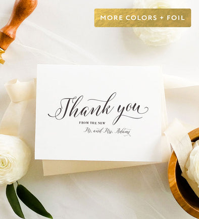 Romantic Script - Thank You