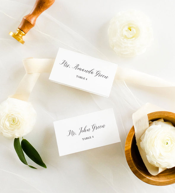 Romantic Script Place Card