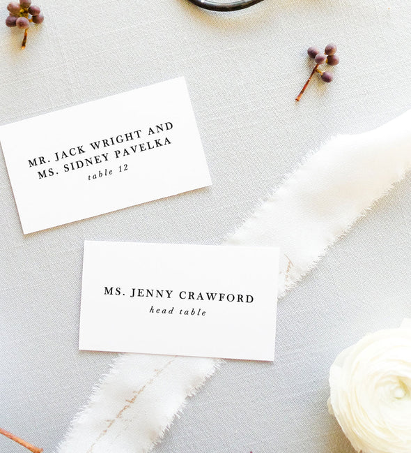 Serif Affair Place Card