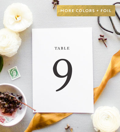 Serif Affair Table Number