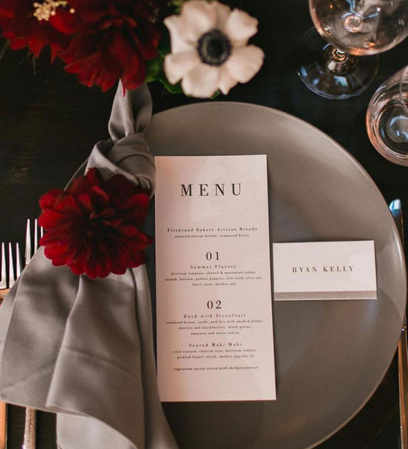 Serif Affair Menu