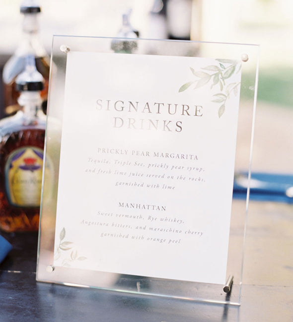 Simple Greenery Signature Drink