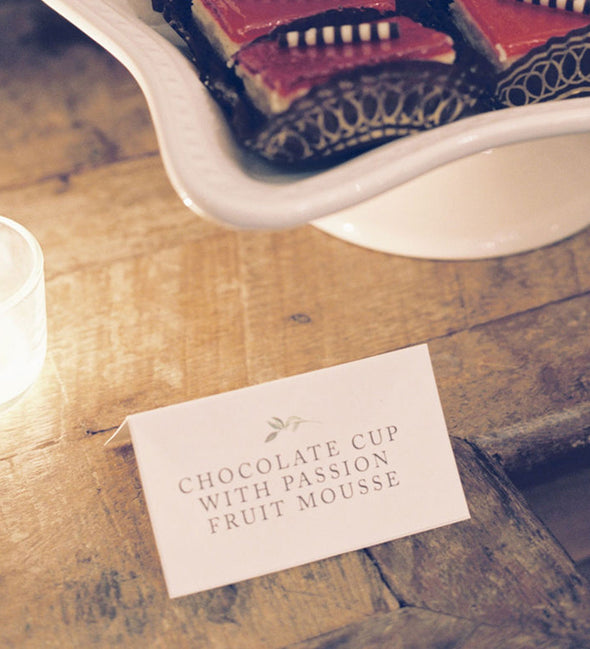 Simple Greenery Place Card