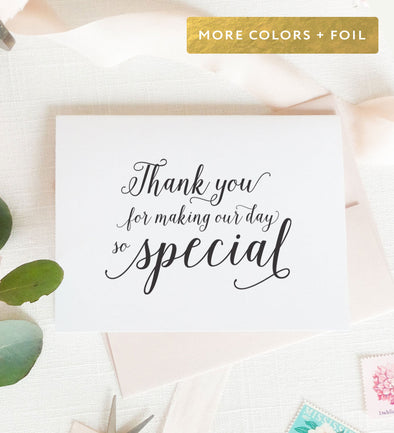 wedding day note card
