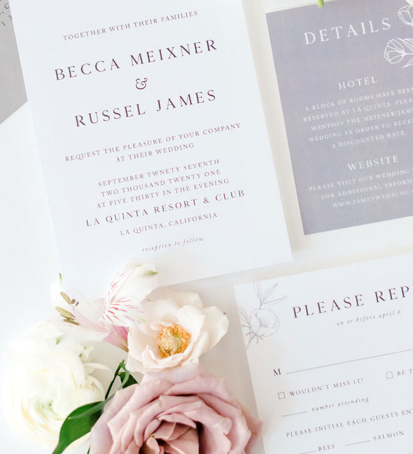 Subtle Garden Wedding Invitation