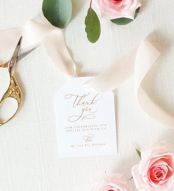 Timeless Romance Favor Tag