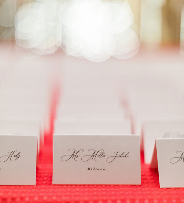 Timeless Romance Place Card