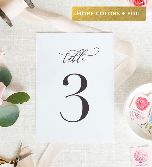 Timeless Romance Table Number
