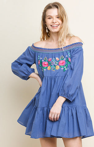 Tiered Off The Shoulder Dress