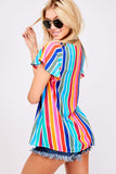 Rainbow Striped Top