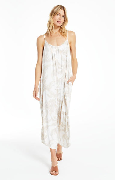Tira Palm Flared Jumpsuit
