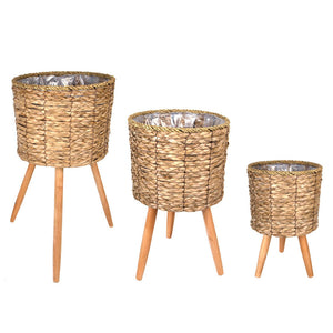 Planter Basket w/Wood Legs