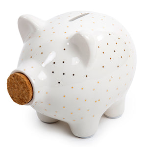 Pig Money Bank w/Cork