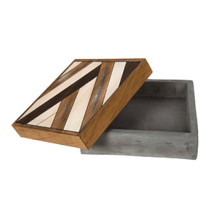 Wood/Concrete Box Square