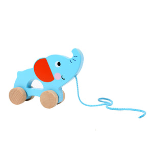 Wooden Pull Along Elephant