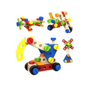 Wooden Construction Set 52pc