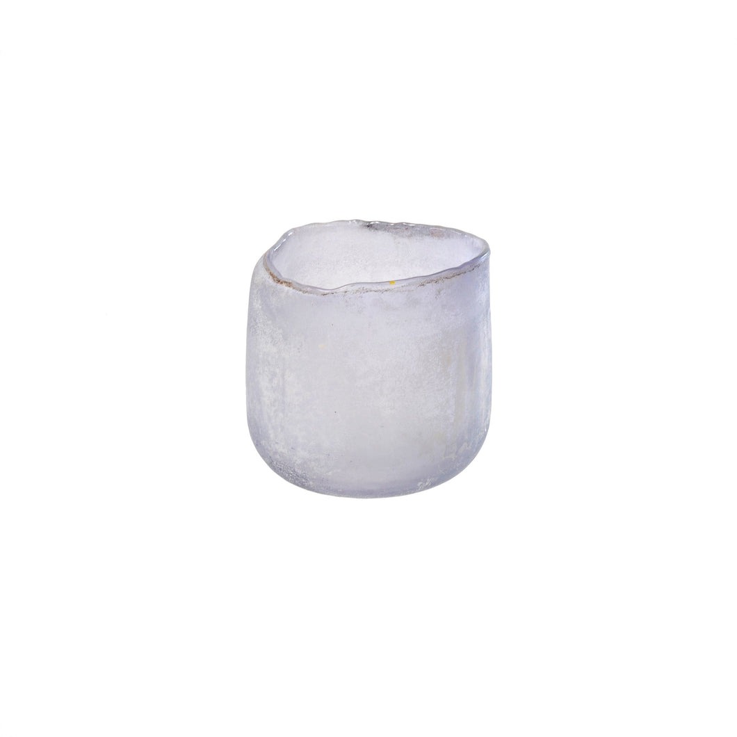 Frosted Roca Votive Medium Lilac