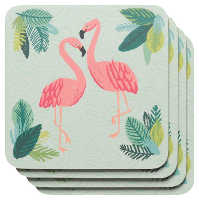 Coaster Set/4 Flamingos