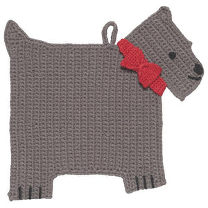 Trivet Crochet Scotty Dog