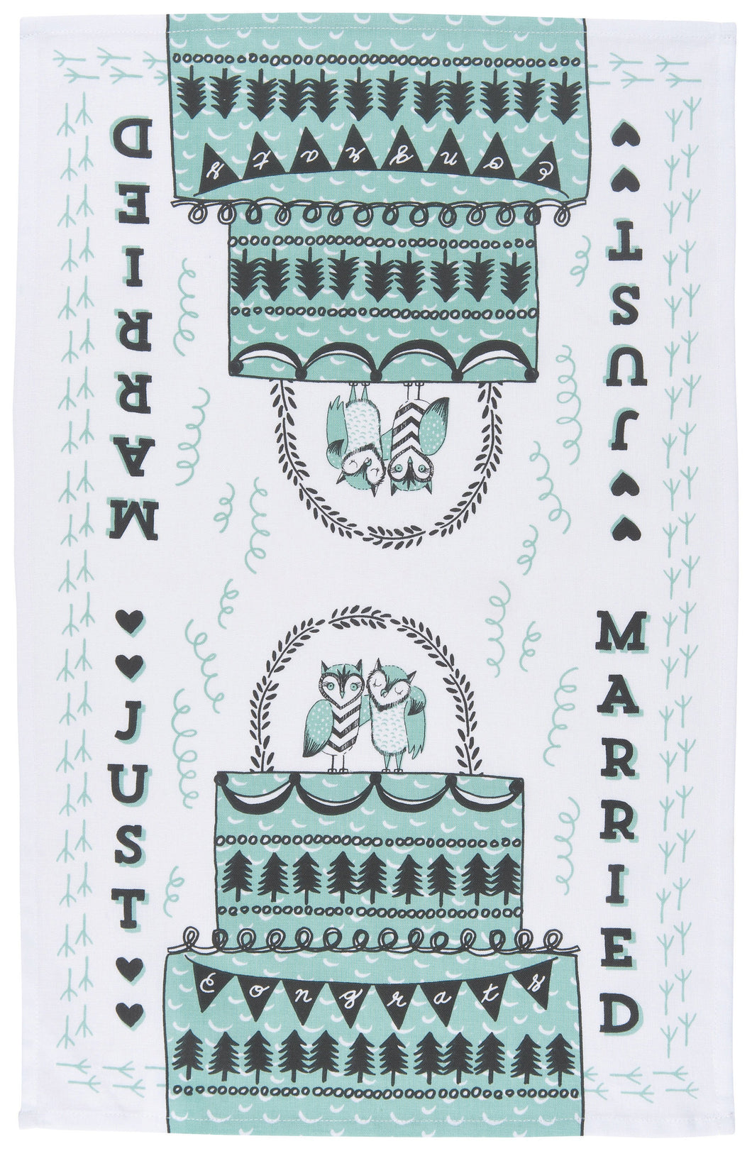Teatowel Just Married