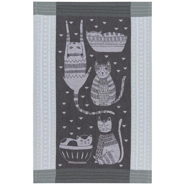 Teatowel Purr Party Jacquard