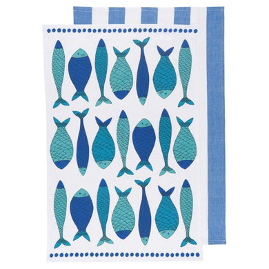 Teatowel Set/2 Fish Market