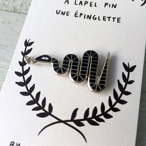 Hisses Lapel Pin