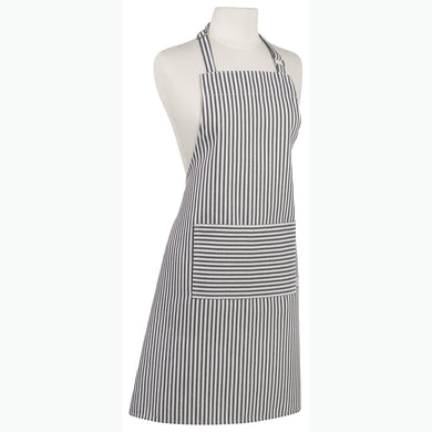 Chef Apron Black Narrow Stripe
