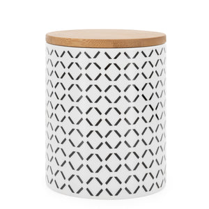 Kiri Collection Canisters Black Crosshatch