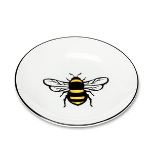 Yellow Bee Round Dish