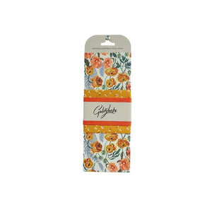 Golden Floral Food Wrap S/3