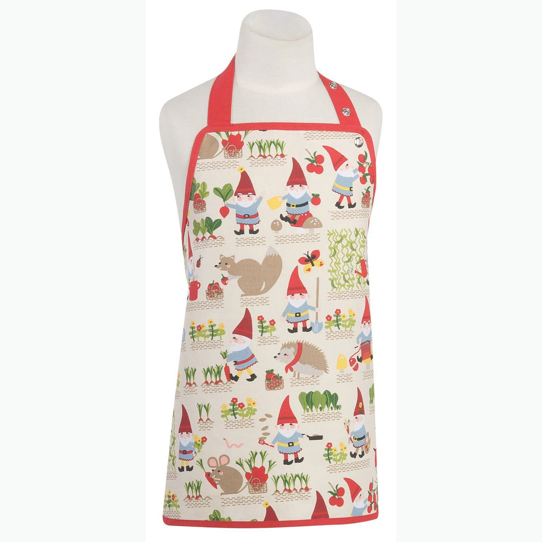 Basic Kid's Apron Gnome Sweet Gnome