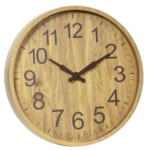 Wall Clock Woodgrain