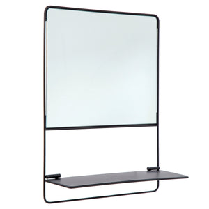 Mirror w/Shelf Square
