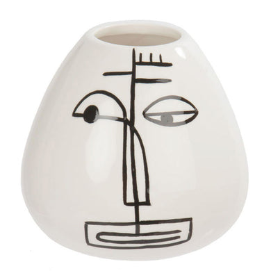 Face Vase Graphic Painted