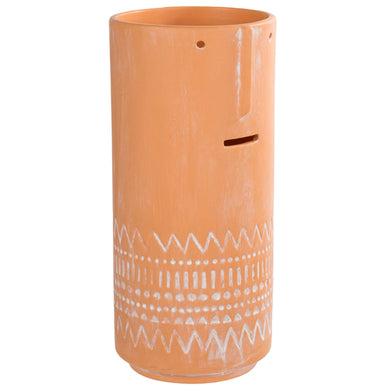 Face Vase Tall Terracotta