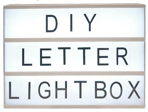 Marquee Letter Lightbox A4