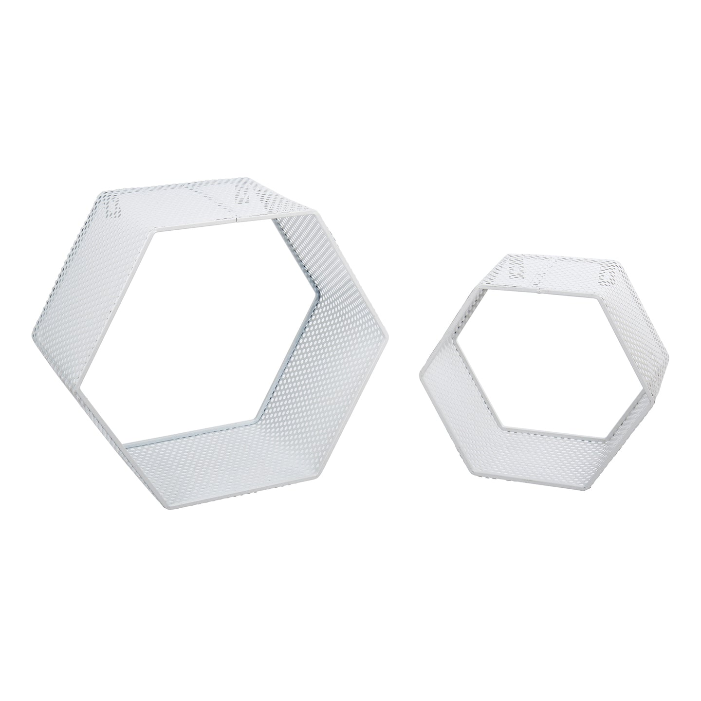 Hexagon Mesh Wall Cubby Set/2