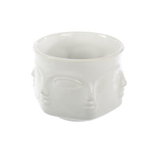 Faces Porcelain Planter