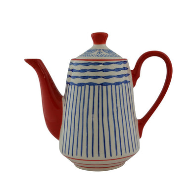 Ceramic Teapot Painted