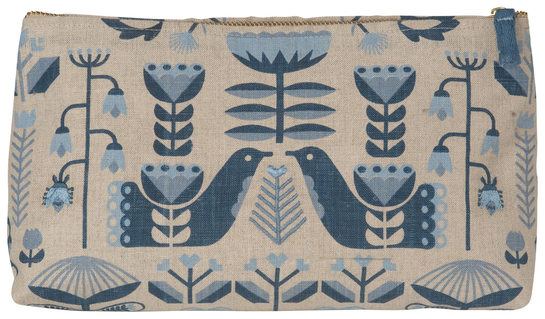 Linen Cosmetic Bag Folklore
