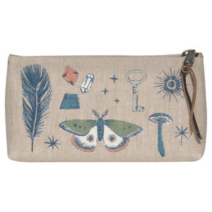 Linen Pencil Pouch Mystique
