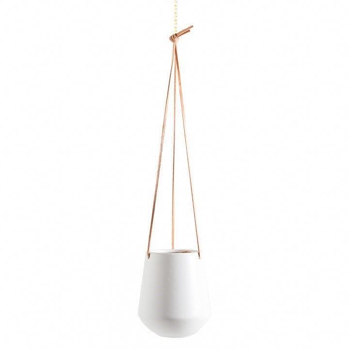Ashbury Hanging Planter White Large
