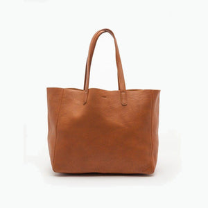 Leather Tote Large Caramel